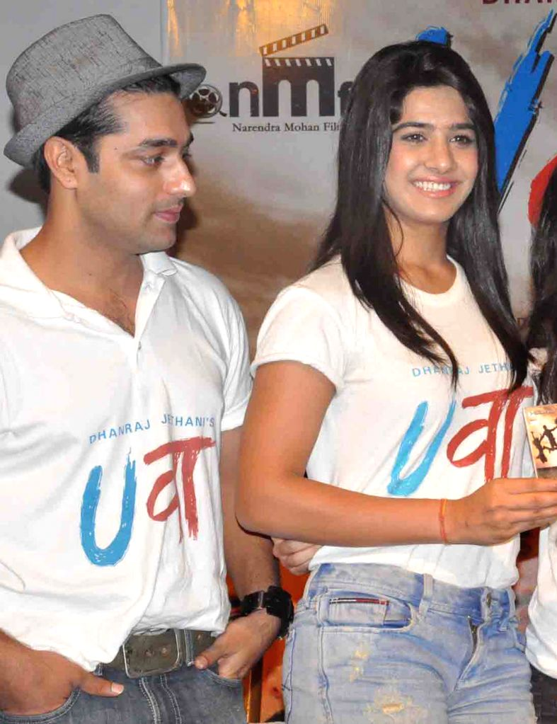 The starcast of upcoming film ``Uvaa`` during a promotional event in Faridabad on June 23, 2015.