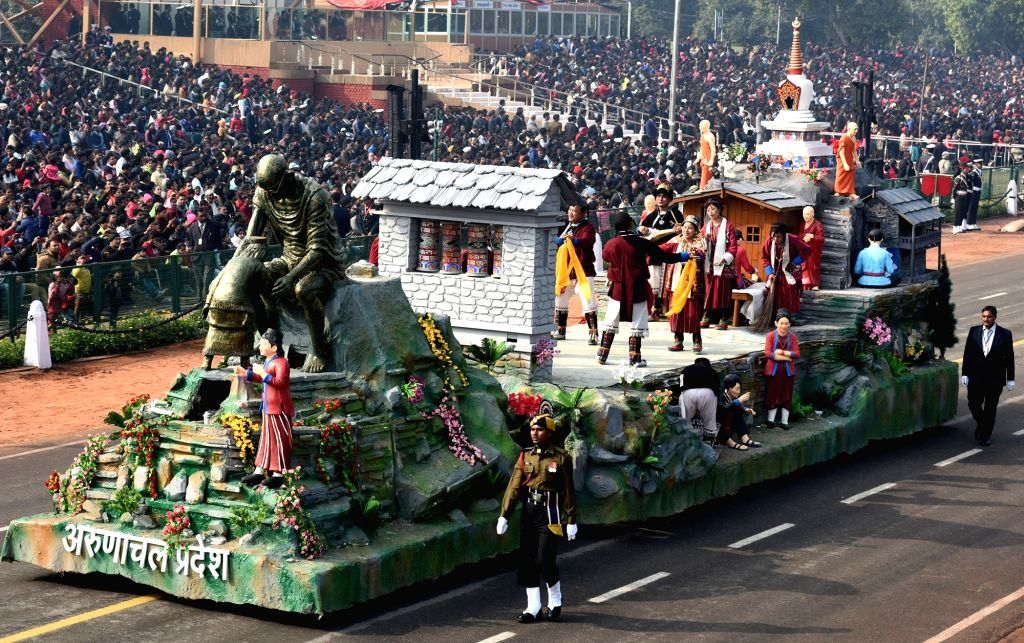 The tableau of Goa during the full dress rehearsals of 2019 Republic Day parade at Rajpath in New Delhi, on Jan 23, 2019.