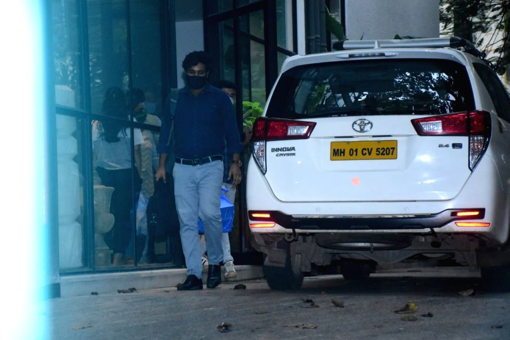 The team of Enforcement Directorate (ED) at the office of Maddock Films in Mumbai on Oct 14, 2020.