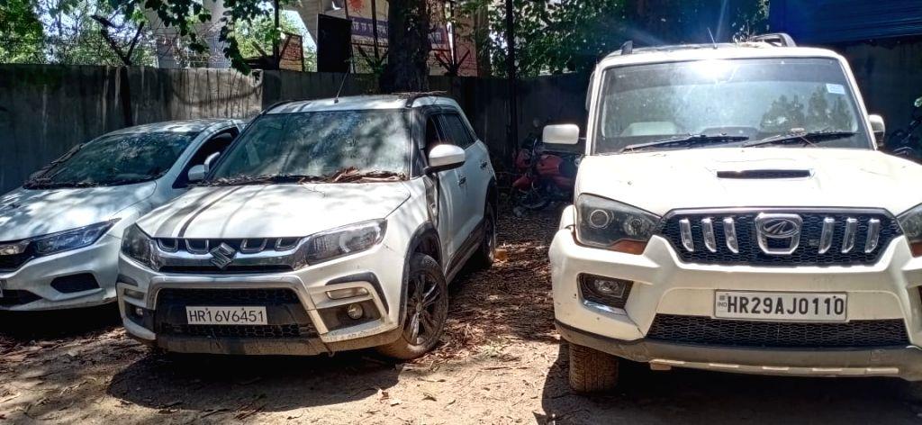 The three vehicles seized from Chhatrasal stadium.