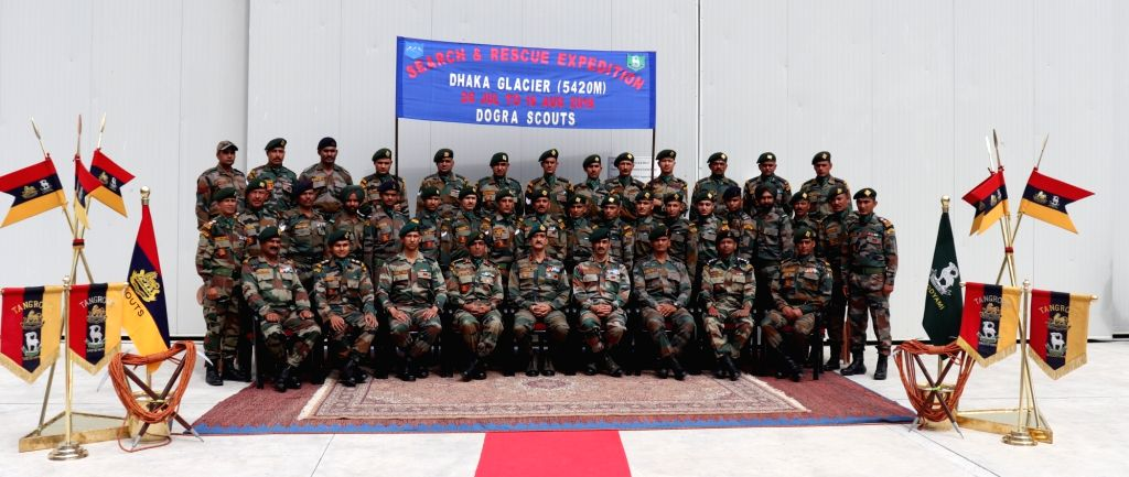 The Tripeak Brigade Commander flags off a search expedition team to recover the bodies of 90 soldiers who went missing after an Indian Air Force An-12 transport aircraft crashed 51 years ago ...