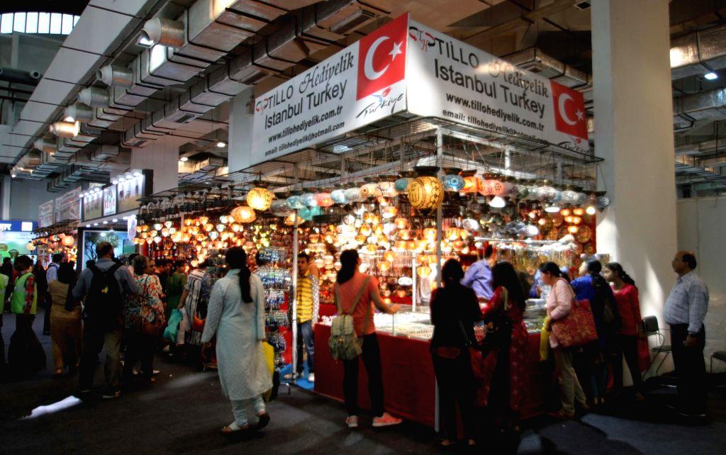 The Turkish pavilion at the 35th India International Trade Fair (IITF) 2015, Pragati Maidan in New Delhi, on Nov 14, 2015.