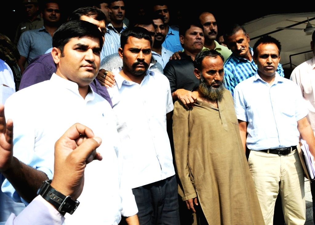 The two Indians, identified as Maulana Ramzan and Subhash Jangir, both residents of Rajasthan, who have been arrested for working with the Inter-Services Intelligence (ISI) being presented ...
