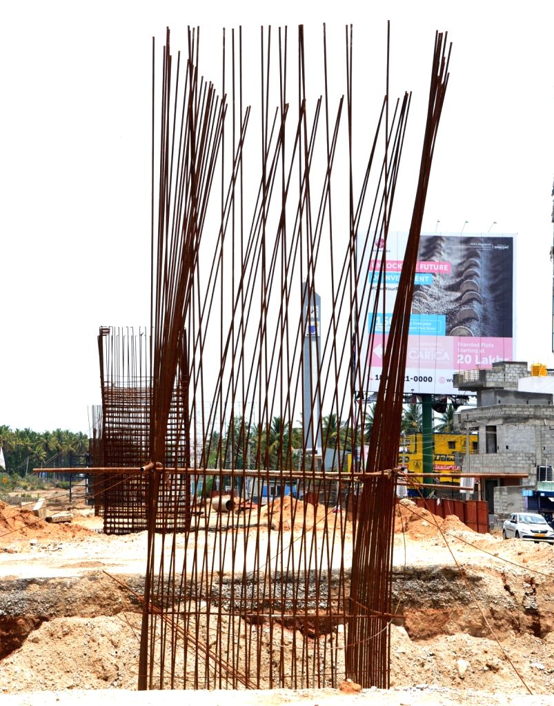 The under construction 6 lane Mysuru-Bengaluru highway project stalled due to the nationwide lockdown imposed to mitigate the spread of coronavirus; on Apr 23, 2020.