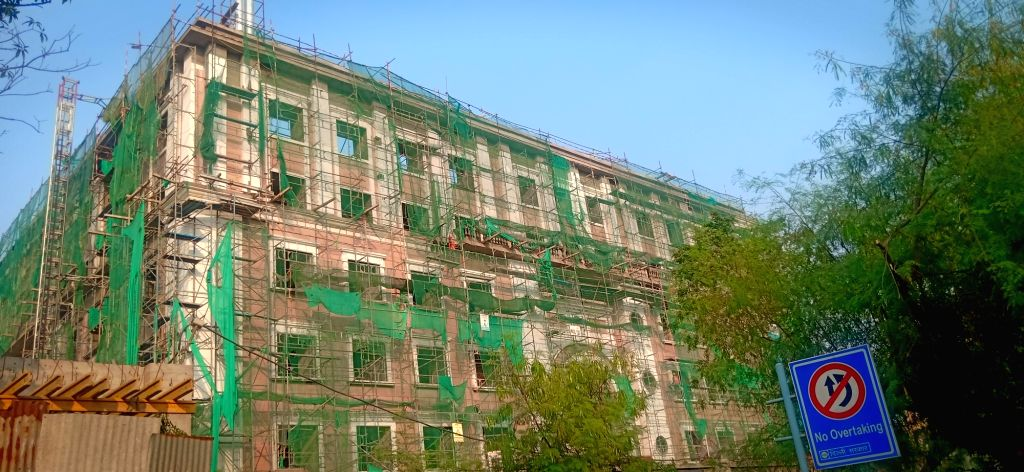 The under-construction building of Congress at Deen Dayal Upadhyay Marg in New Delhi on Oct 17, 2019.