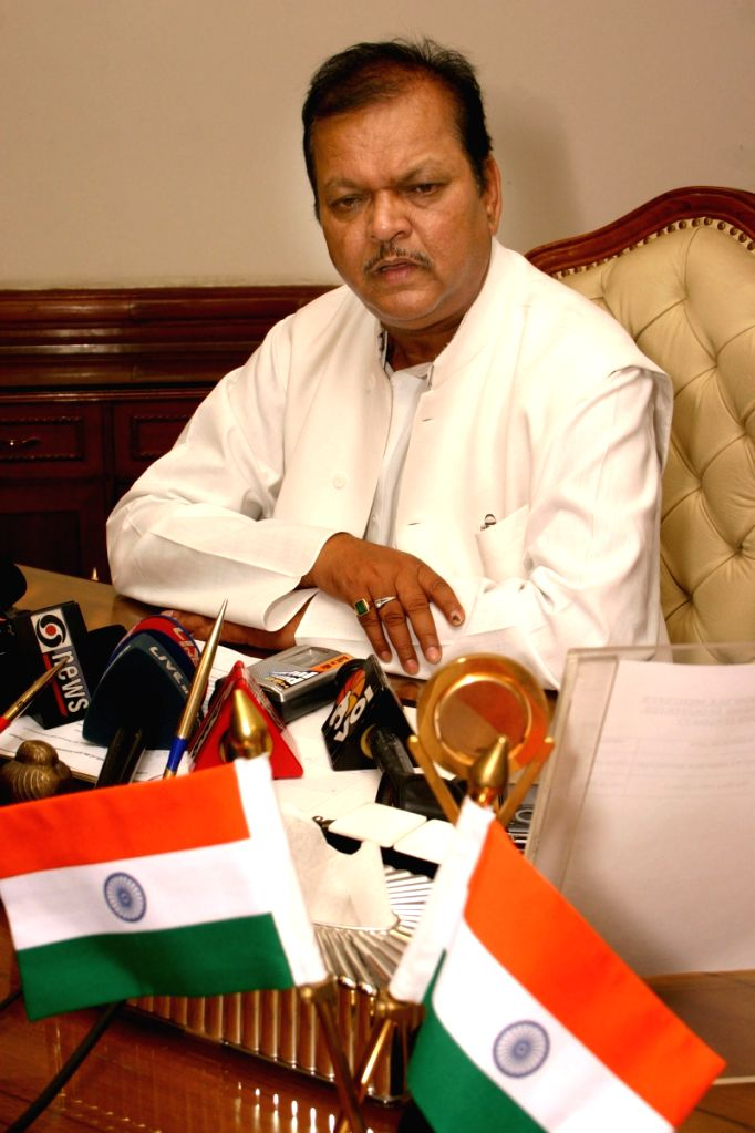 The Union Cabinet Minister for Food Processing Industries Subodh Kant Sahai after taking charge, in New Delhi on Friday.