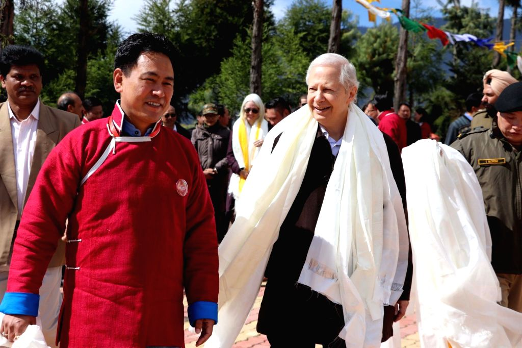 The United States Ambassador to India, Kenneth I. Juster arrives in Arunachal Pradesh's Tawang to attend Tawang Festival, on Oct 28, 2019.