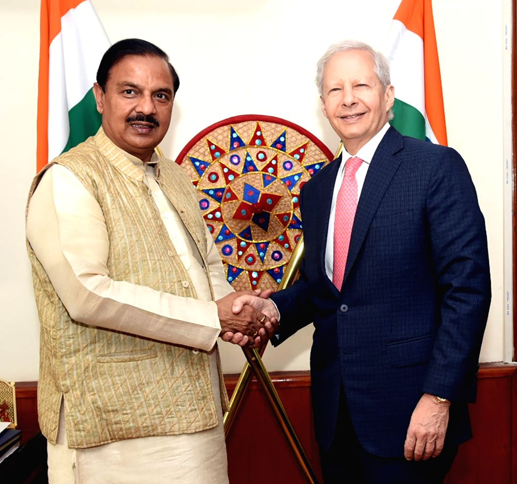 The US Ambassador to India, Kenneth I. Juster during a meeting with Union MoS Culture Mahesh Sharma, in New Delhi on Feb 12, 2019. - Mahesh Sharma