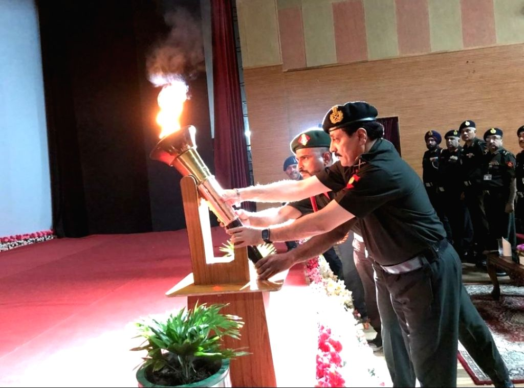 The Victory Flame reaches HQ Western Command, Chandimandir on July 20, 2019.
