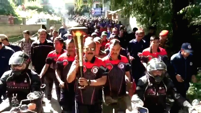 The Victory Flame reaches Manali on July 20, 2019.