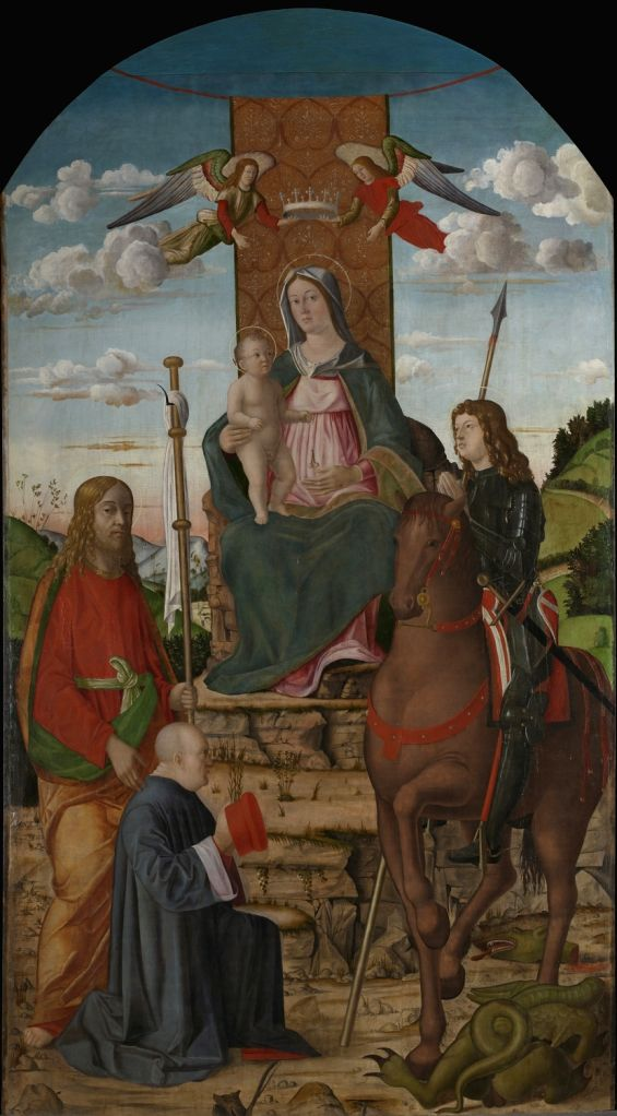 The Virgin and Child with Saints George, James the Greater and a Donor Giovanni Martini da Udine.