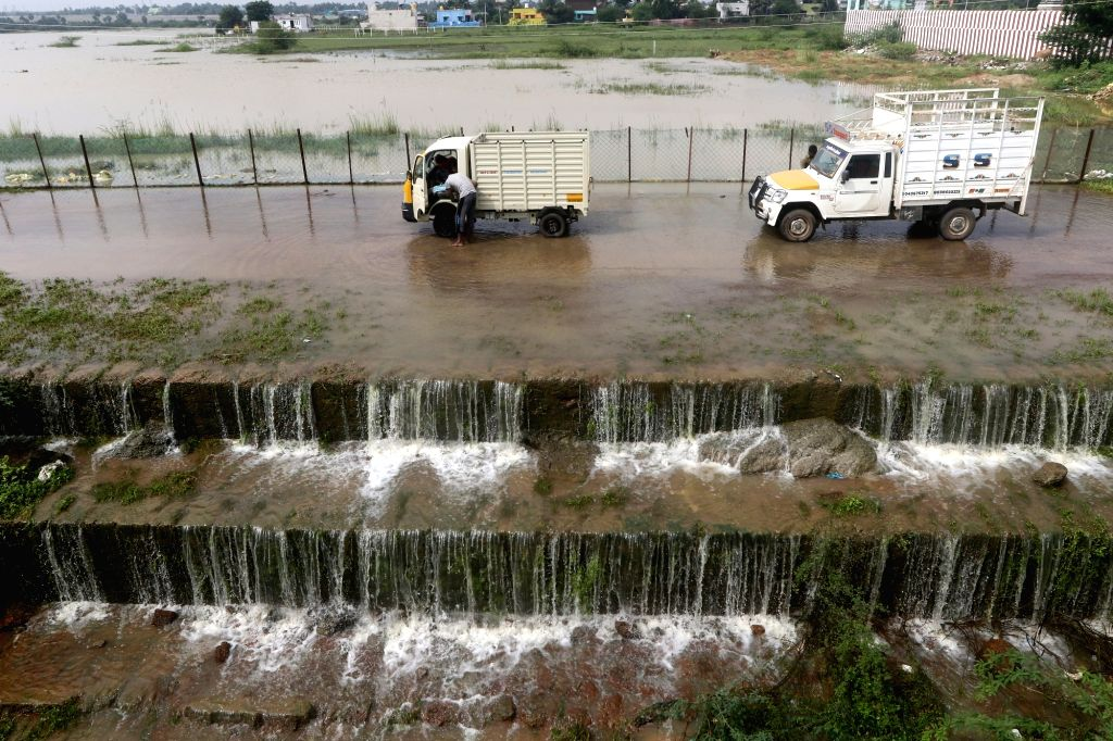 The water levels of the Red Hills reservoir reached 1,600mcft against its full capacity of 3,300mcft following heavy rains received by its catchment areas, leaving the adjoining areas ...