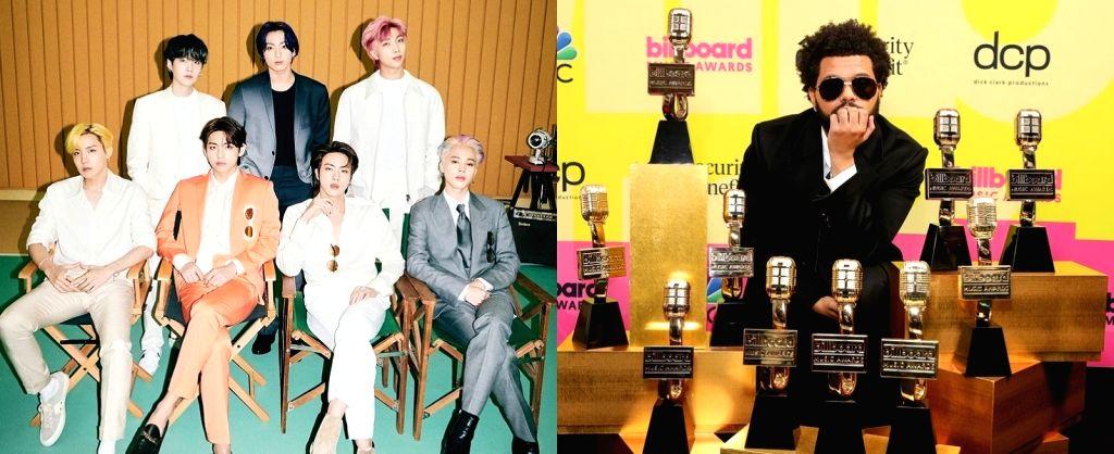 The Weeknd, BTS, Bad Bunny win big at Billboard Music Awards.(photo:Instagram)