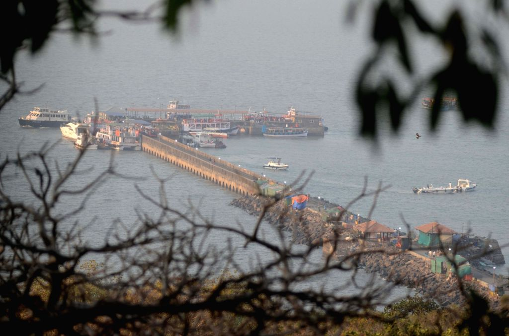 The Wellington Pier in Arabian sea that is connected to the Elephant Island and serves as a channel for visitors to reach Elephanta Caves, in Mumbai on Jan 29, 2019.