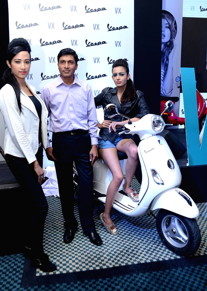 The wholly owned Indian subsidiary of the Italian Piaggio Group today announced the launch of the much awaited Vespa VXBengaluru in Bengaluru 13 August 2013. (Photo::: IANS)