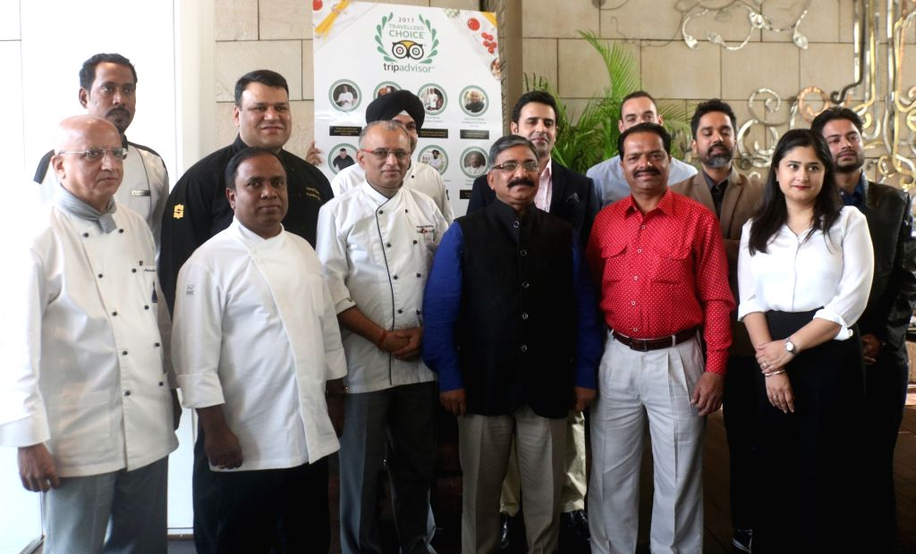 The winners of 2017 Travellers' Choice Awards in New Delhi on Nov 30, 2017.