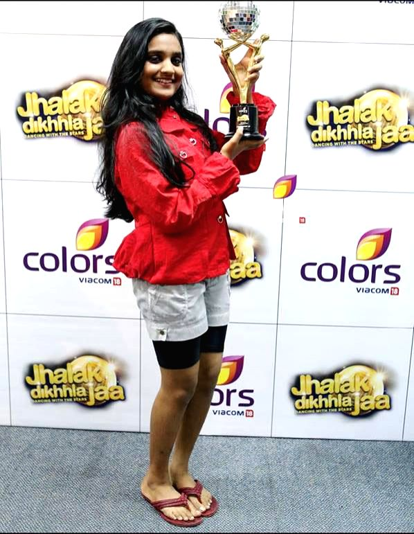 Theertha Vinod during `Jhalak Dikhhla Jaa UAE Season 3` grand finale at the Sheikh Rashid Auditorium, Indian High School in Dubai on June 24, 2014.