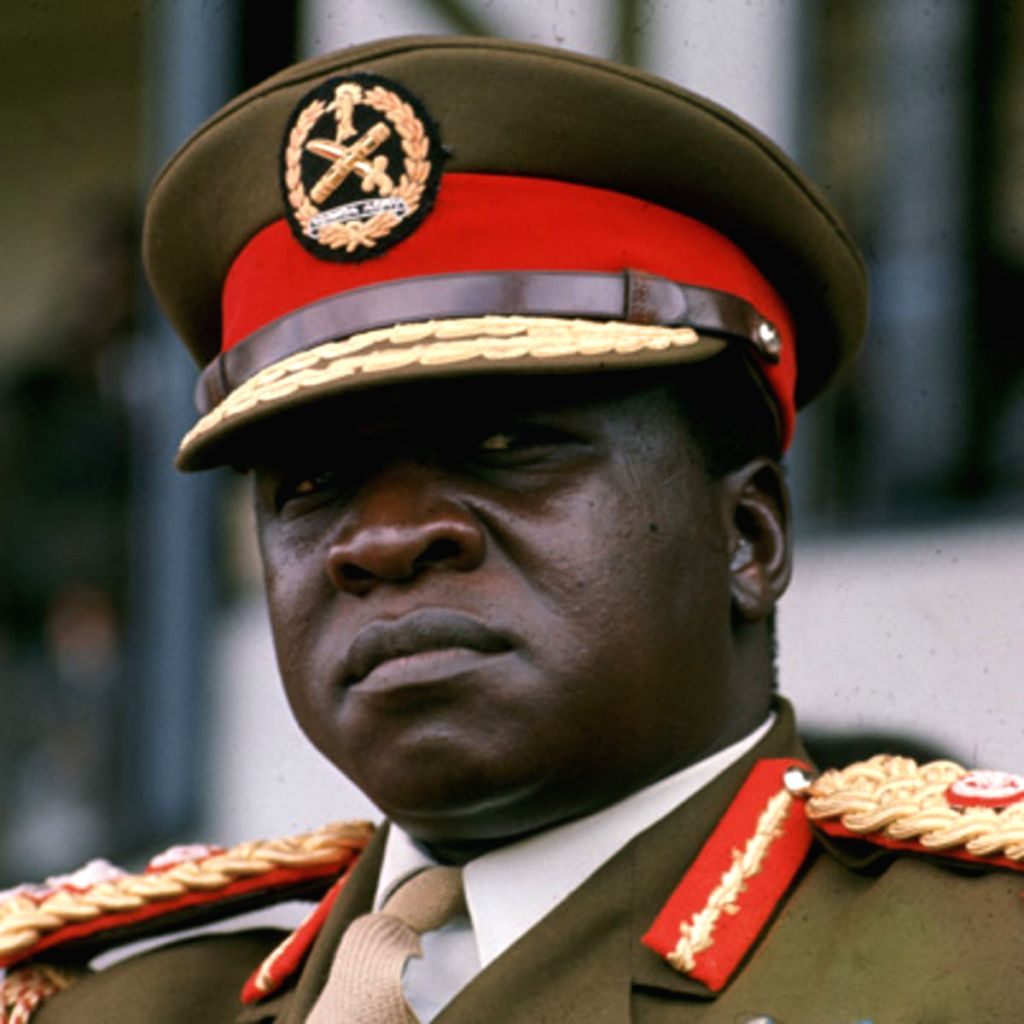 Then Ugandan President Idi Amin who played a notorious role in the 1976 Air France hijacking that led to the Entebbe raid