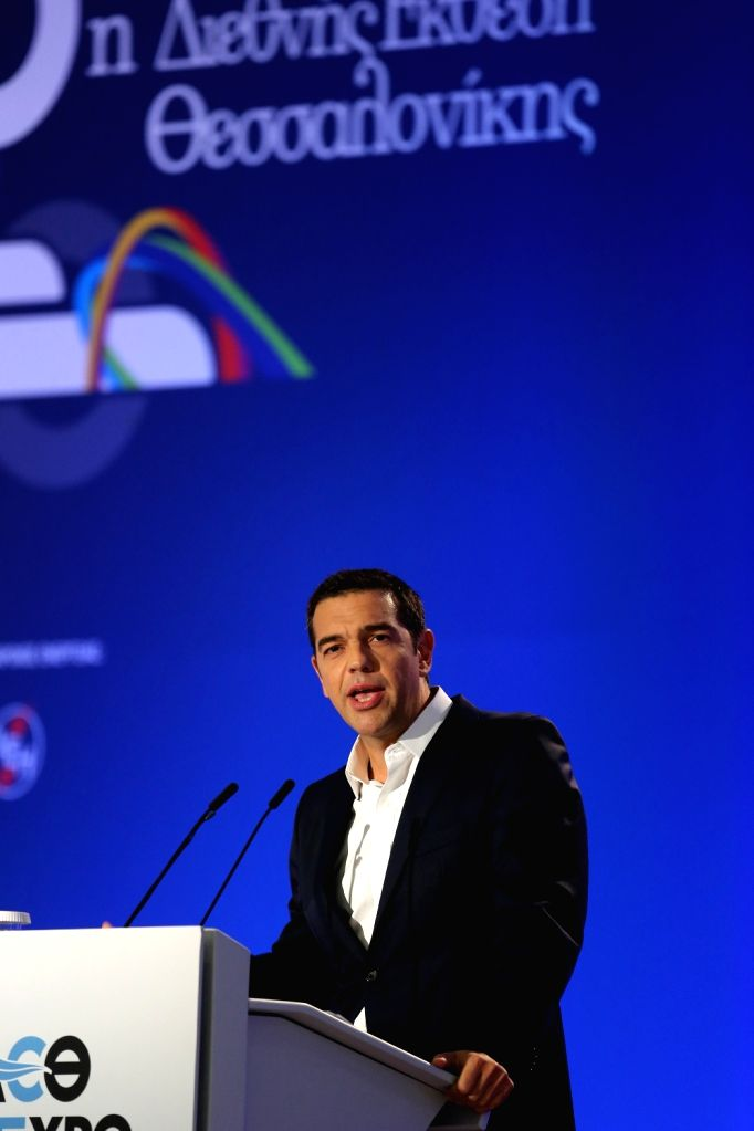 THESSALONIKI (GREECE), Sept. 10, 2017 Greek Prime Minister Alexis Tsipras delivers a speech on his government's economic policy during the 82nd Thessaloniki International Trade Fair ... - Alexis Tsipras