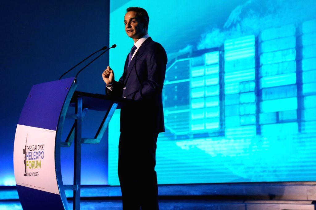 Thessaloniki (Greece), Sept. 12, 2020 Greek Prime Minister Kyriakos Mitsotakis delivers a keynote speech at the Thessaloniki Helexpo Forum in Thessaloniki, Greece, on Sept. 12, 2020. ... - Kyriakos Mitsotakis
