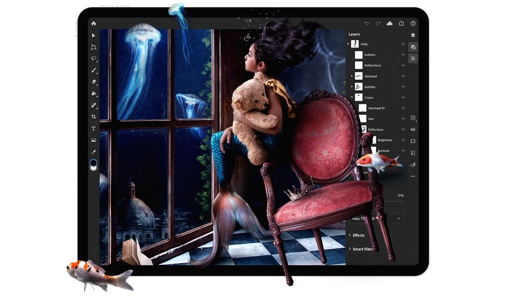 Thirty years and still going strong, Adobe Photoshop remains the most loved design tool for creators and professional designers. Now, iPad lovers in India are thrilled to try their hands on the software tool and let their imaginations fly. (Photo Cou