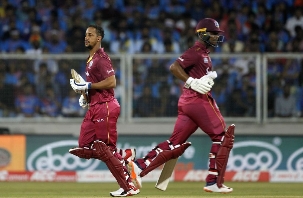 Thiruvananthapuram: West Indies' Lendl Simmons in action during the second T20I match between India and West Indies at the Greenfield International Stadium in Thiruvananthapuram, Kerala on Dec 8, 2019. (Photo: Surjeet Yadav/IANS) - Surjeet Yadav