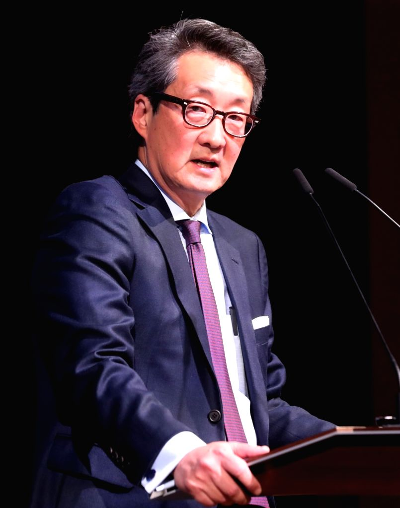 This January 2017 file photo shows former White House official Victor Cha giving a lecture during a seminar in Seoul. The United States has withdrawn Cha from consideration for ambassador to ...