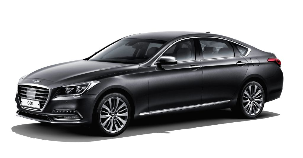 This photo, provided by Hyundai Motor Co. on Jan. 29, 2018, shows the diesel version of the automaker's G80 luxury sedan that hit domestic showrooms the same day. Hyundai claims the new model ...