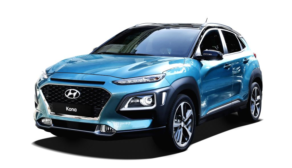 This photo, provided by Hyundai Motor Co., shows the carmaker's new subcompact SUV, the Kona. The model will be released at home June 27, 2017.