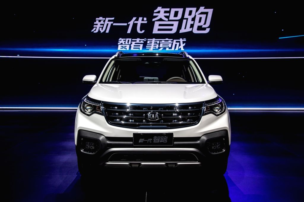 This photo provided by Kia Motors Corp. on April 18, 2018, shows the carmaker's new Sportage SUV launched in the Chinese city of Xian the previous day. (Yonhap/IANS)