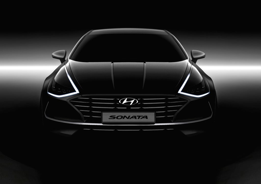 This photo, released on March 6, 2019, by Hyundai Motor Co., shows the design of the exterior of the automaker's next-generation Sonata sedan, which is scheduled to be released this month.
