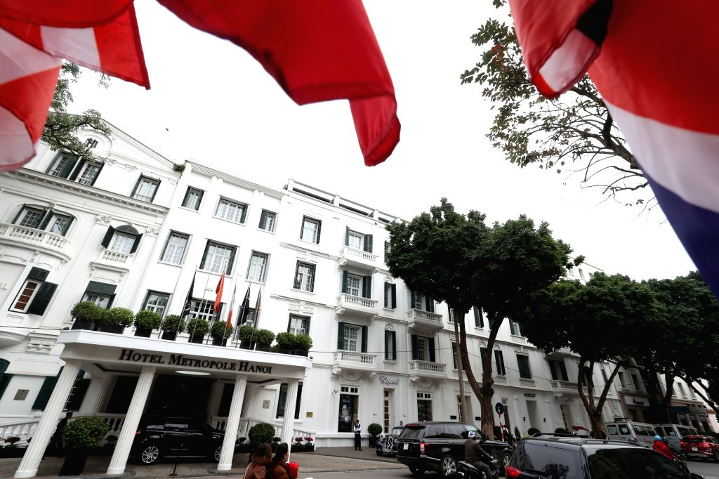 This photo, taken on Feb. 24, 2019, shows the Sofitel Legend Metropole Hotel, located in the Vietnamese capital of Hanoi. The hotel has been cited as one of the most likely venues for the ...