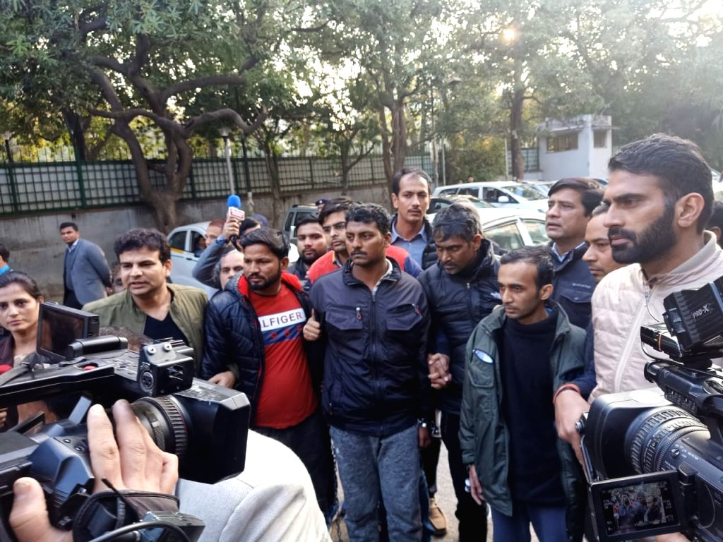 Three ISIS terrorists were arrested by the special cell of Delhi Police after a brief encounter on Wednesday, in New Delhi on Jan 9, 2020.