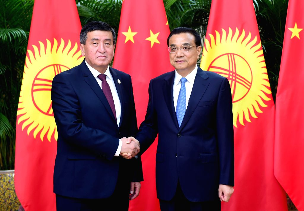 TIANJIN, June 27, 2016 - Chinese Premier Li Keqiang (R) holds talks with Kyrgyz Prime Minister Sooronbai Zheenbekov, who is here to attend the Annual Meeting of the New Champions 2016, or Summer ... - Sooronbai Zheenbekov