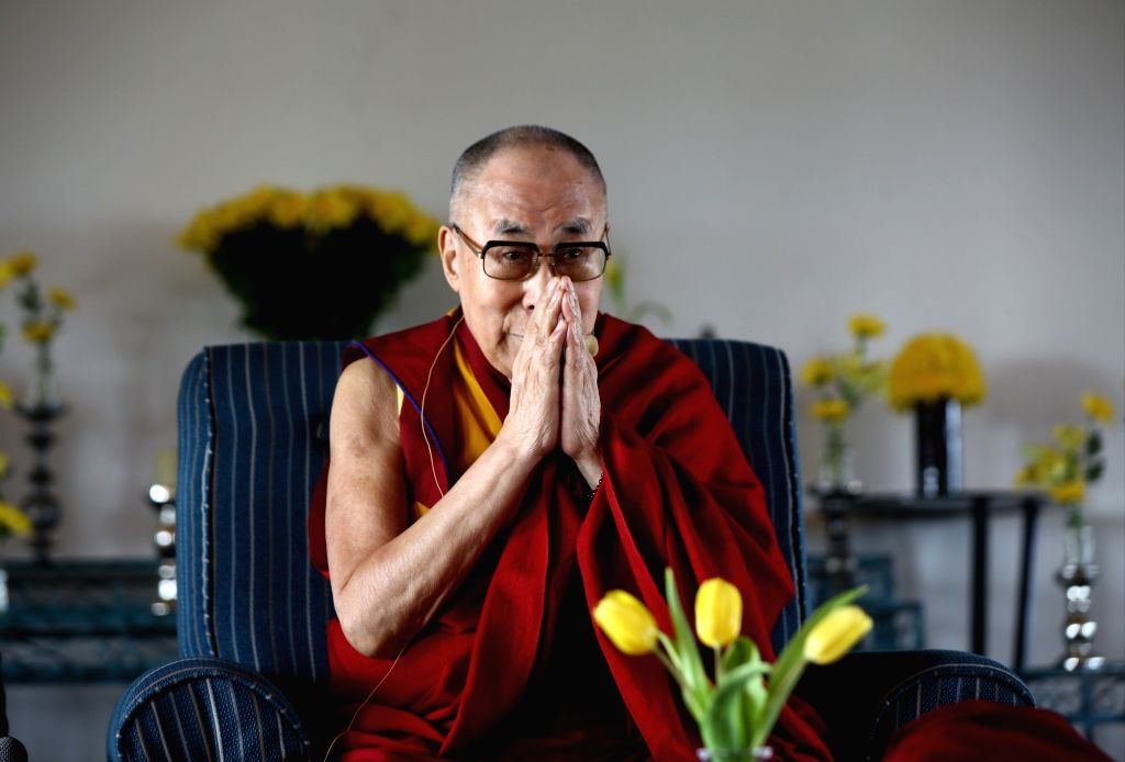 Tibetan spiritual leader the Dalai Lama during an interactive session in New Delhi on Sep 21, 2019.