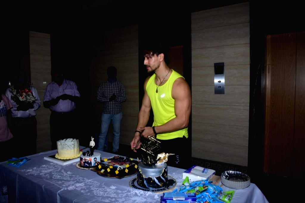Tiger Shroff Cake Cutting At His Bandra Residence on Tuesday 02nd March 2021.