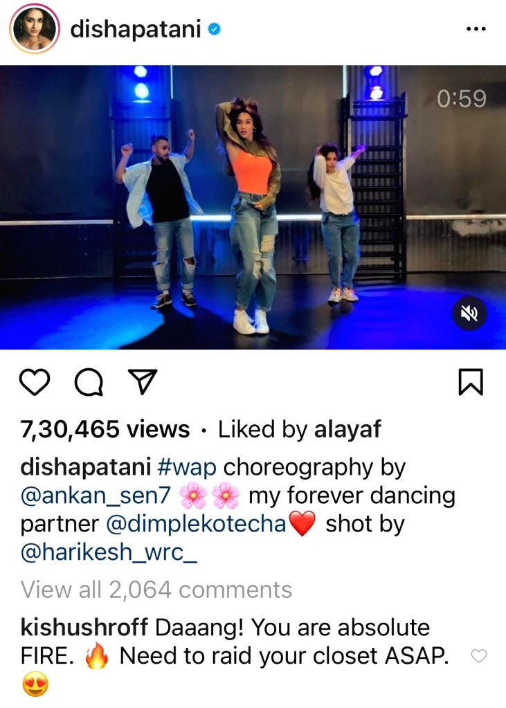 Tiger Shroff's sister wants to raid Disha Patani's closet