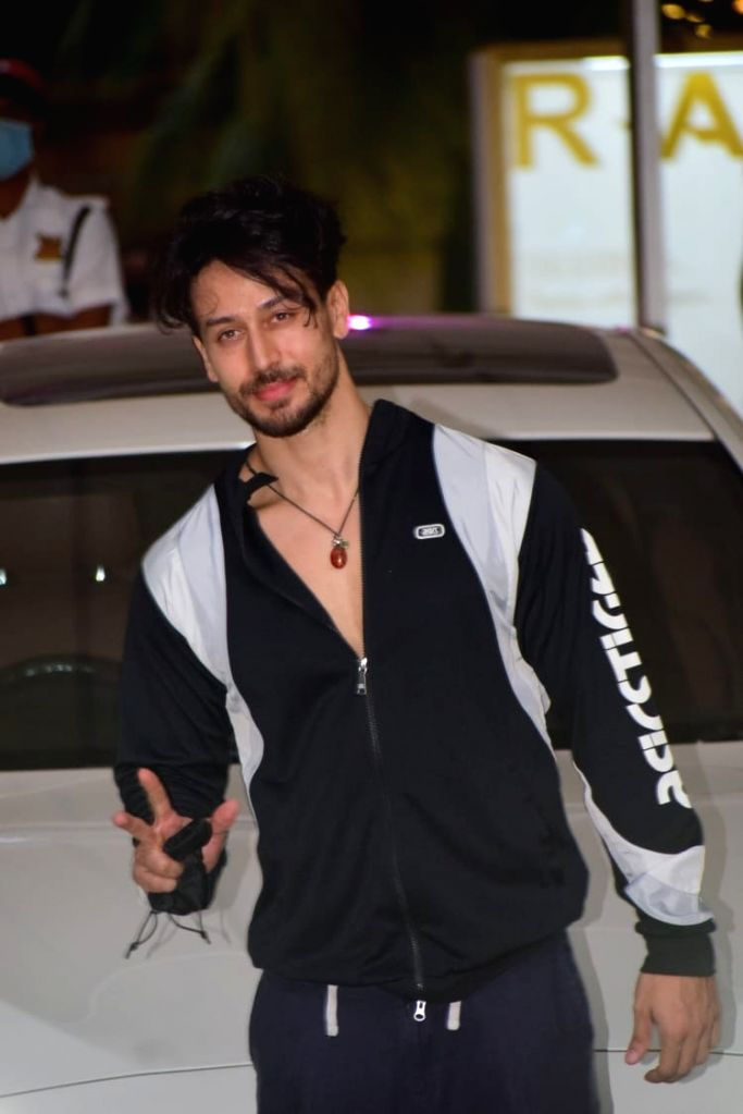 Tiger Shroff spotted Gym in Juhu on Friday 05th March, 2021.