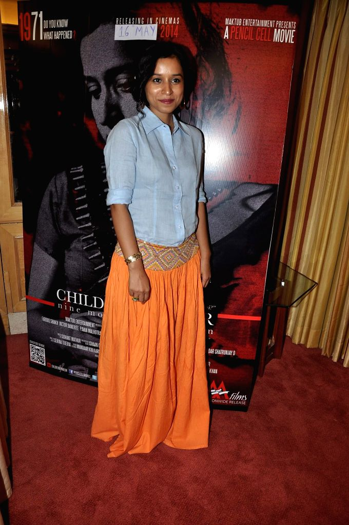 Tilotama Shome during the media interaction about her upcoming film Children of War in Mumbai on May 12, 2014.