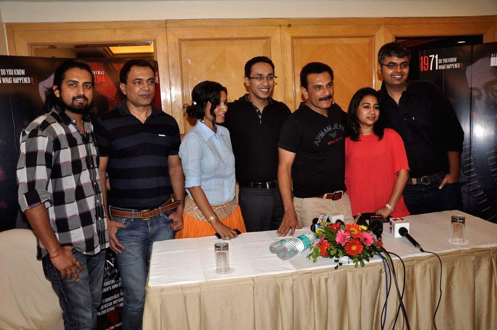 Tilotama Shome, Mritunjay Devvrat and Pawan Malhotra during their media interaction about their upcoming film Children of War in Mumbai on May 12, 2014. - Pawan Malhotra
