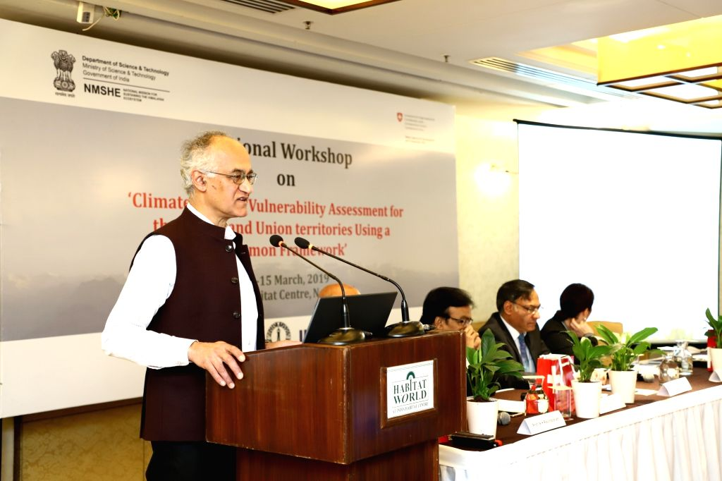 Timothy A. Gonsalves, Director IIT-Mandi addresses national workshop on 'Climate Change Vulnerability Assessment for States and the Union Territories Using a Common Framework