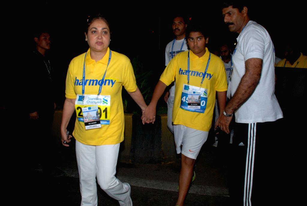 Tina Ambani at Marathon High Res in Mumbai. - Tina Ambani