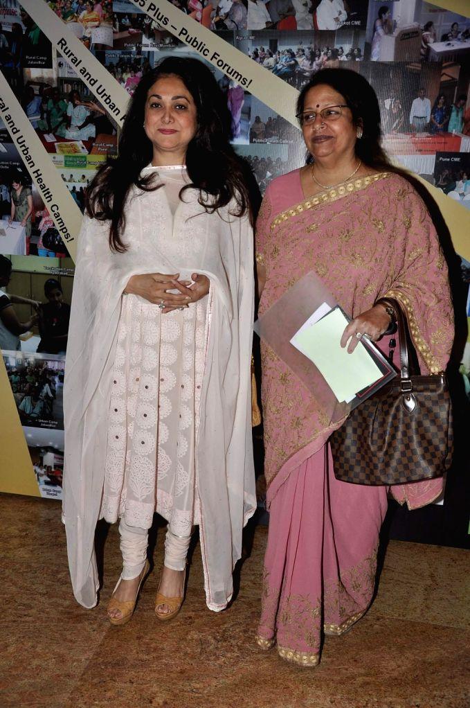 Tina Ambani, wife of Anil Ambani, chairman of Anil Dhirubhai Ambani Group, and Preeti Galvankar during the first ever International Congress on Menopause in India on Challenges in Women's Health - Dhirubhai Ambani Group