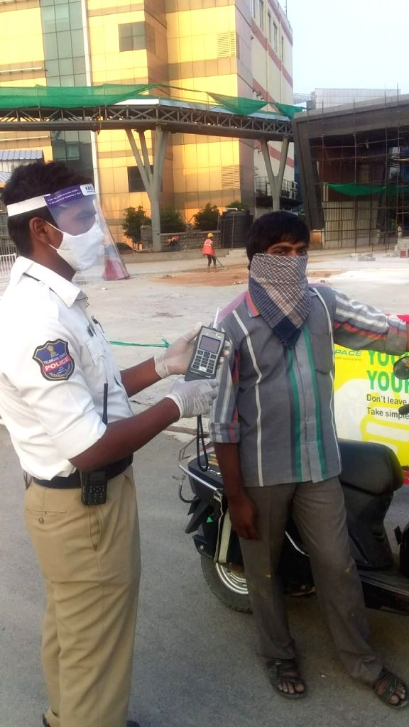 Tipsy man on bike found asleep on Hyderabad road