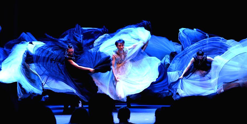 TIRANA, Oct. 25, 2019 - The actors of the Beijing Dance Academy perform in Tirana, Albania on Oct. 24, 2019. A performance of Beijing Dance Academy troupe was presented in Albania's capital Tirana on ...