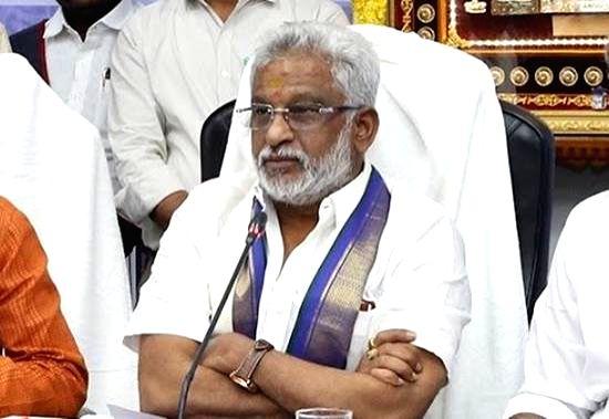 Tirumala Tirupati Devasthanam (TTD) Chairman Y V Subba Reddy. (Photo: twitter@yvsubbareddymp)