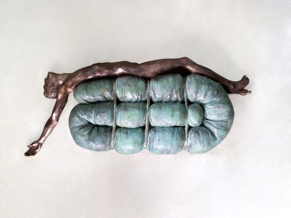 Title - Fall, Medium Bronze, Year 2018.(Photo Source: Vadehra Gallery)