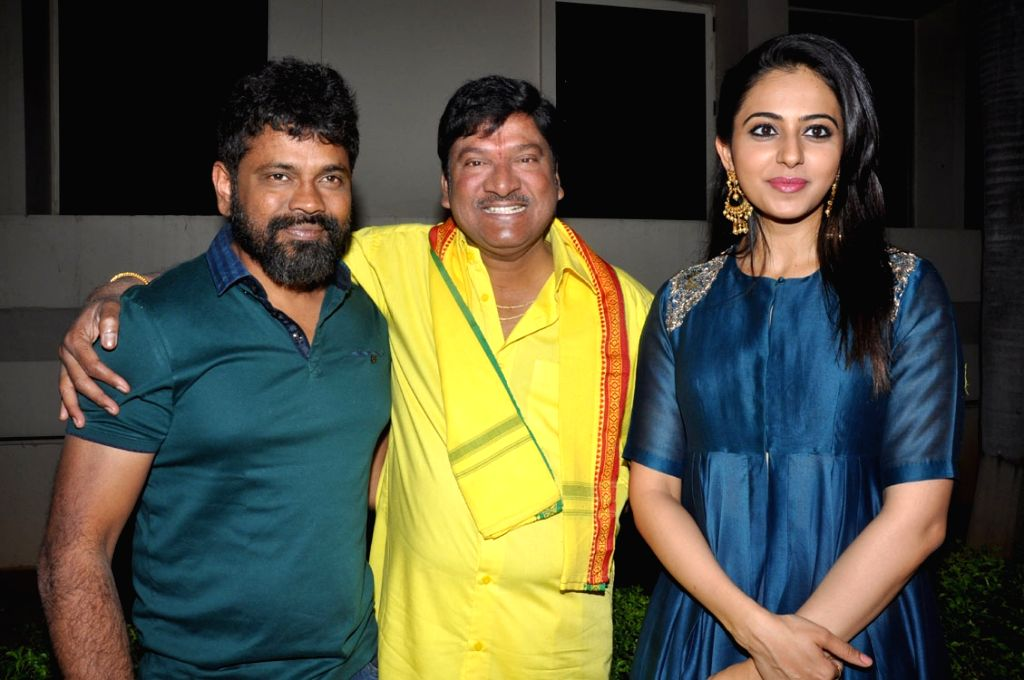 Title song release function of Telugu film Nannaku Prematho in Hyderabad on Jan. 16, 2016.