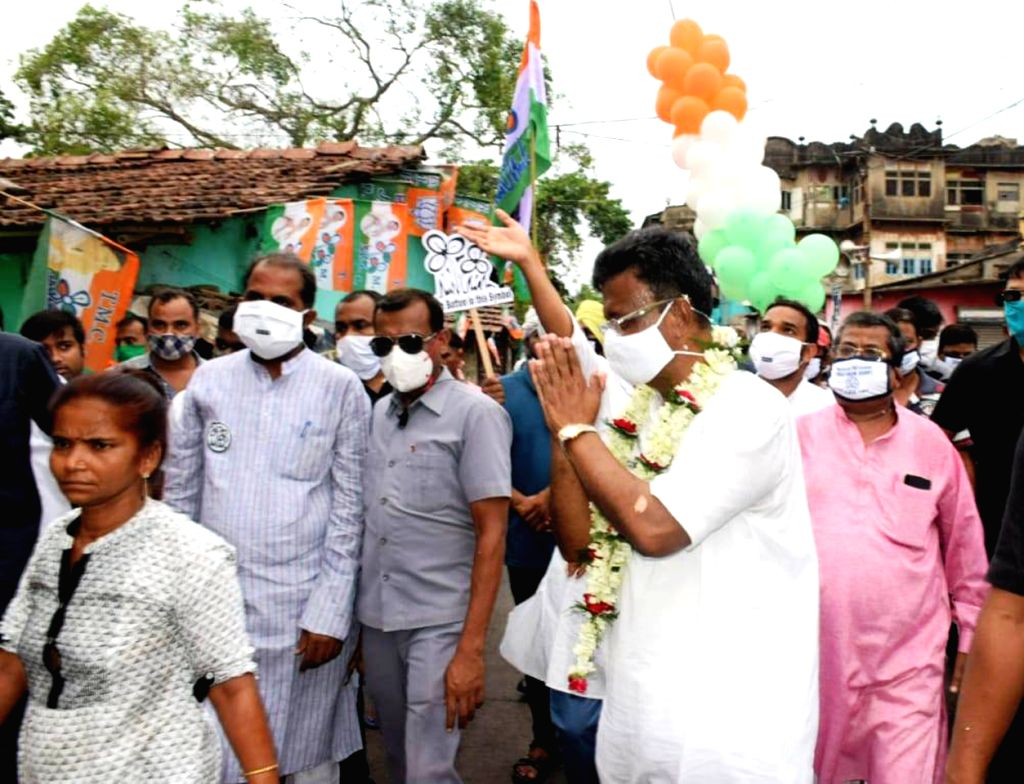 TMC candidate of Kolkata Port, Firhad Hakim at election campaign during State Assembly election in Kolkata, on April 18, 2021.