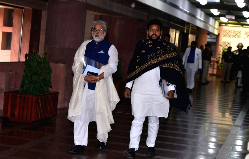 TMC leader Sudip Bandyopadhyay departs after the all party meeting on the Pulwama terror attack at Parliament House, in New Delhi, on Feb. 16, 2019.